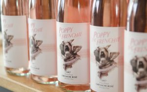 2017 Grenache Rosé bottles of Poppy The Frenchie